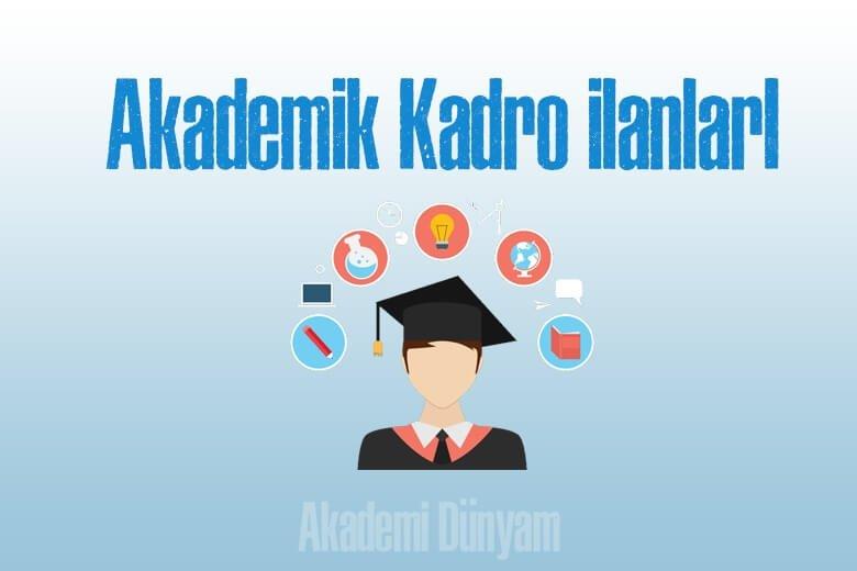 akademik kadro ilanları